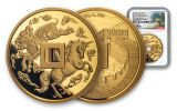 2019 China 88-gm Gold Unicorn Vault Protector NGC PF70UC First Day of Issue w/Song Signature