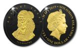 2019 Solomon Islands $1 Ancient Egypt Cleopatra Coin w/Black Nickel & Gold Plating Proof-Like