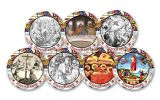 Cold Enamel Collection: Happy Easter 7-pc Uncirculated Set