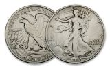 3PC 1916-1945 50 CENT WALKING LIBERTY MINTMARK SET