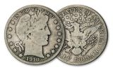 1892-1915-S 50 CENT BARBER SILVER COIN CIRCULATED