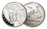 1943–1993 Walking Liberty and WWII Commemorative Half Dollar 2-pc Set w/AMC Note
