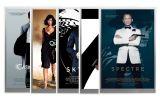 5-gm Silver 007 James Bond Movie Poster Foil 5-pc Set