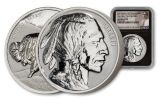 2021 2 oz Silver Fraser Lost Buffalo Ultra High Relief Reverse Proof Medal NGC PF70 FDI BC Fraser Label