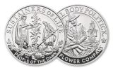 2020 Great Britain/U.S. 1-oz Silver Mayflower 400th Anniversary 2-pc Set NGC PF70UC First Releases w/Costello Signature