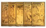 1–50 New Hampshire Goldback Aurum 24kt Gold Foil Notes 5-pc Set