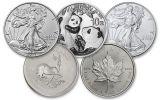 2021 Top 5 Silver Coin Starter Pack Gem BU