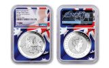 2021 Australia $1 1-oz Silver Wedge Tailed Eagle NGC MS70 First Day of Production w/Flag Label & Mercanti Signature
