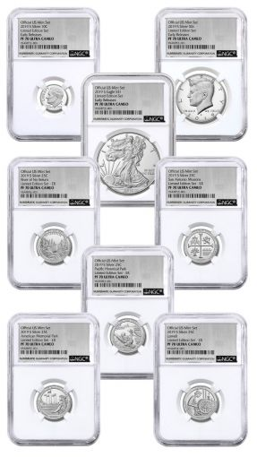 2019-S United States Mint Limited Silver Proof Set™ NGC PF70UC Early Releases w/Silver Foil Label