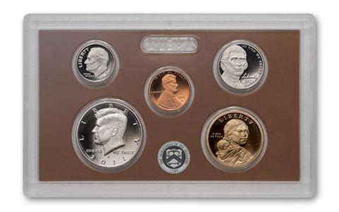2011 S US Mint Quarters Silver Proof Set