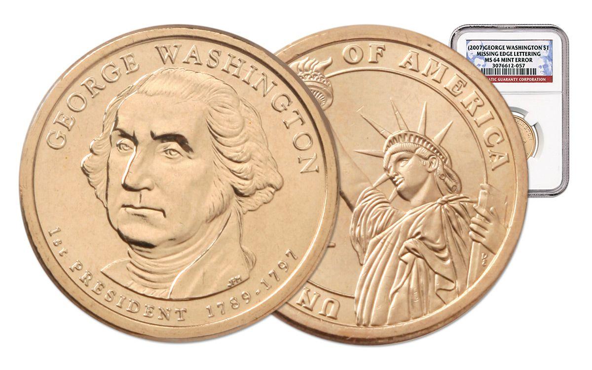 2007 D  George Washington Presidential Dollar 1-Coin