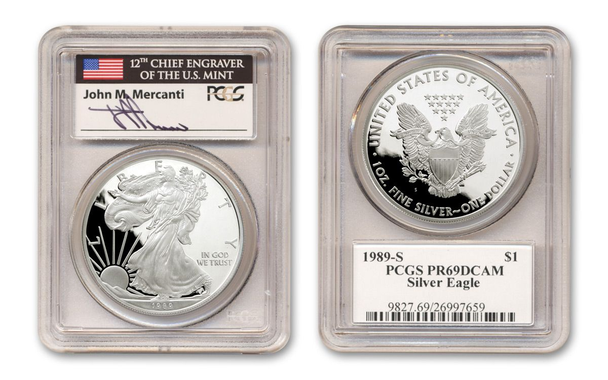 1989-S American Silver Eagle Proof PCGS PR69 DCAM