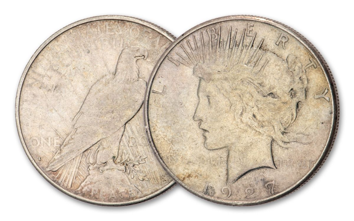 Silver Peace Dollar XF Lot of 5