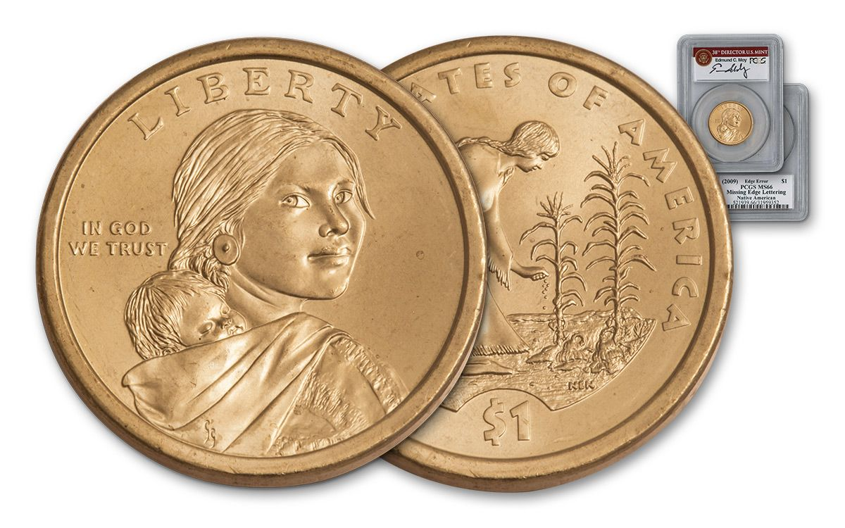 2009 Sacagawea Dollar Error Pcgs Ms66 Moy Signed Govmint Com