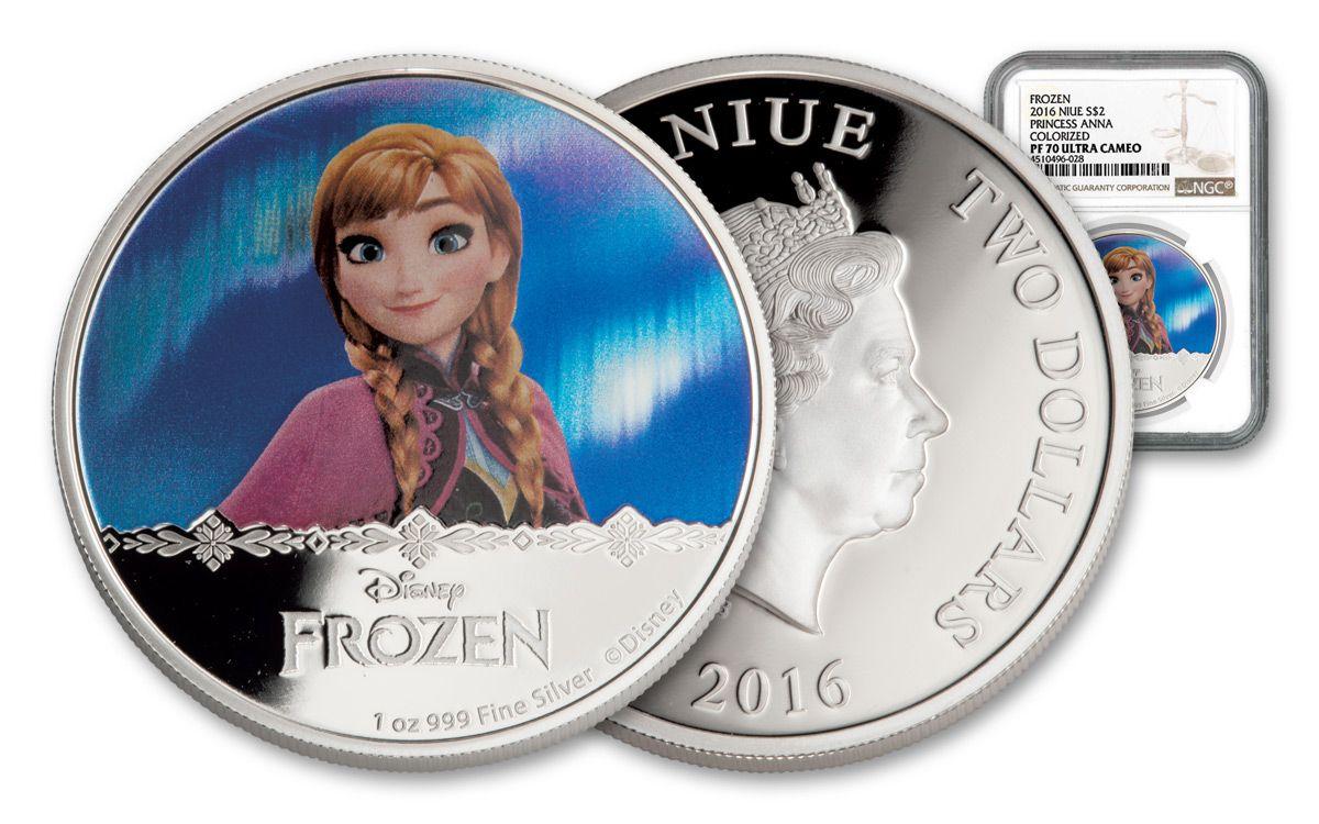 2016 Niue 2 1 Oz Silver Frozen Anna