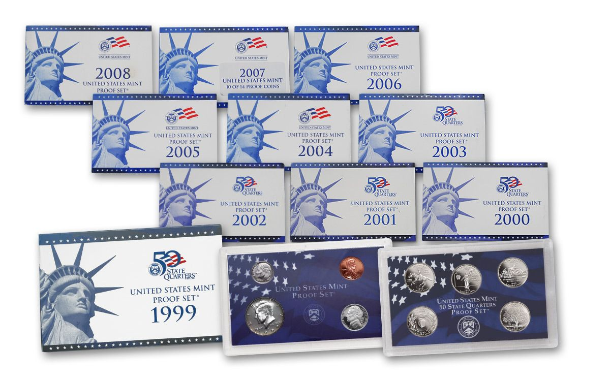 2008 S US Proof Set 14 PCS Comes in original Packaging From the US Mint Proof