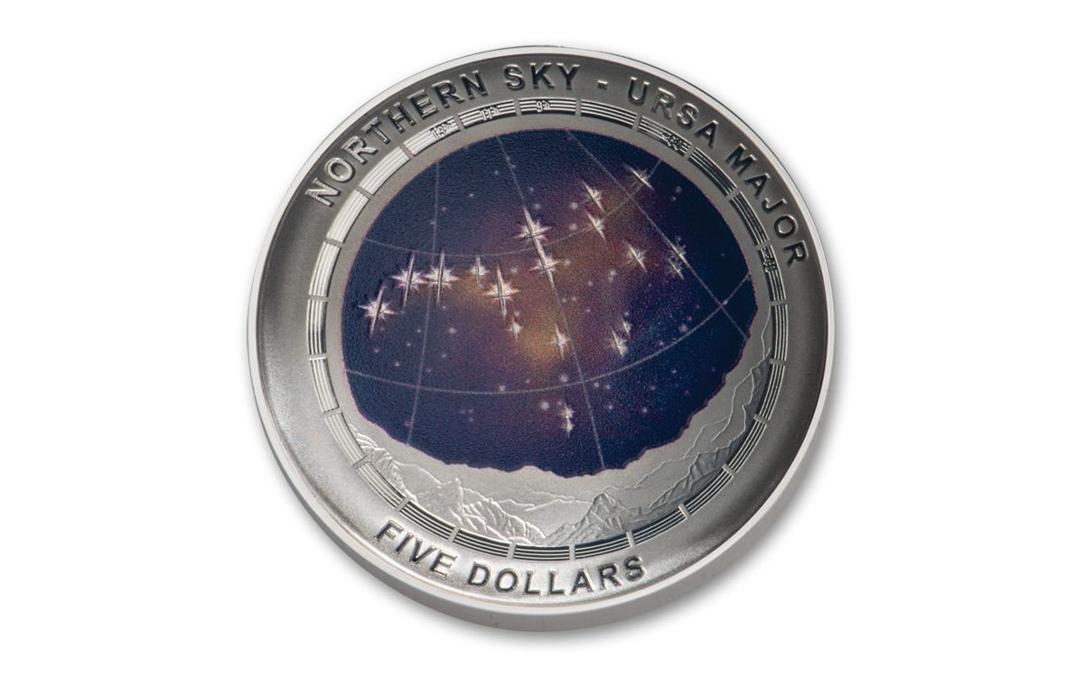 Australia 2016 $5 Northern Sky Series URSA MAJOR 1oz Silver Proof Domed