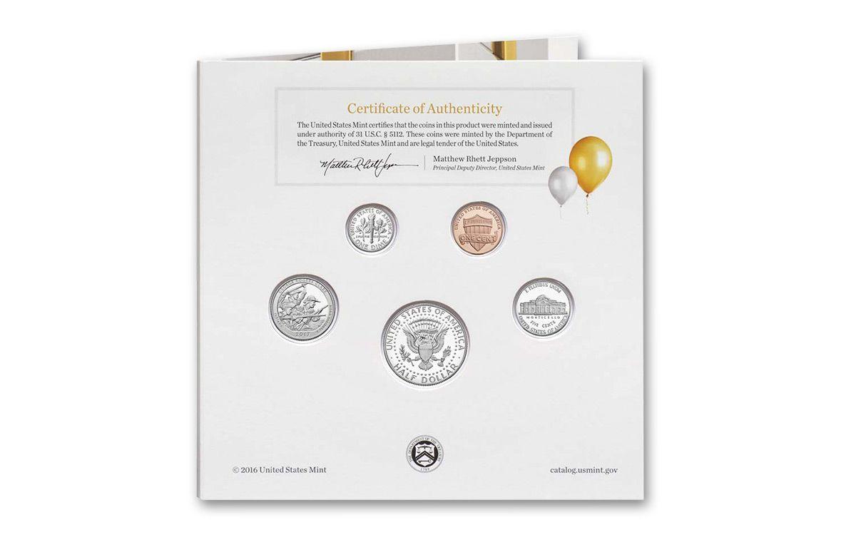 2017 US Mint 5-Coin Happy Birthday Proof Set | GovMint com