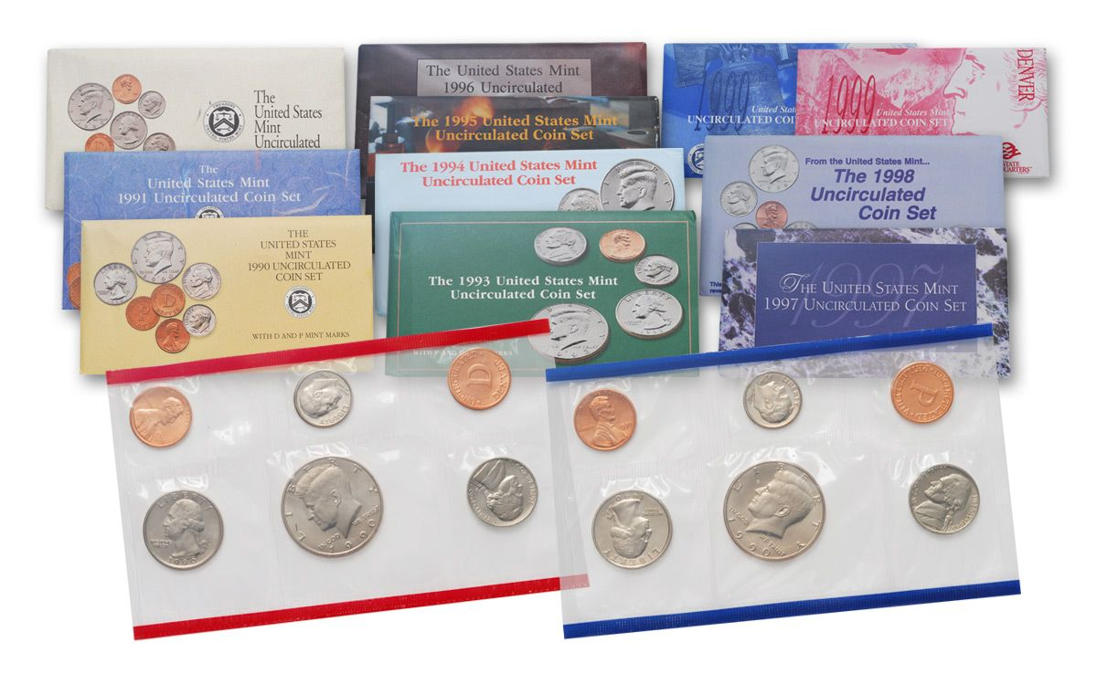 1990-1999 Proof Kennedy Half Dollars 10 Coins in All