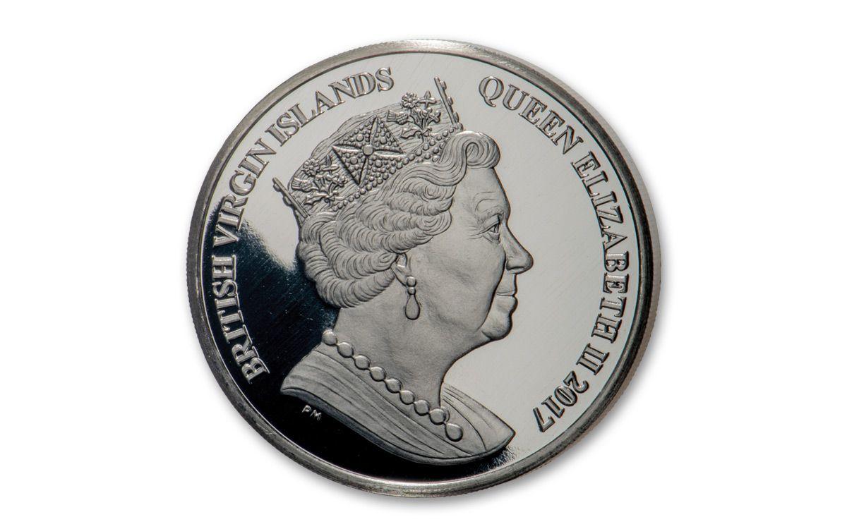 JOHN F KENNEDY Centenary of Birth Coin 2017 British Virgin Islands PURPLE HEART