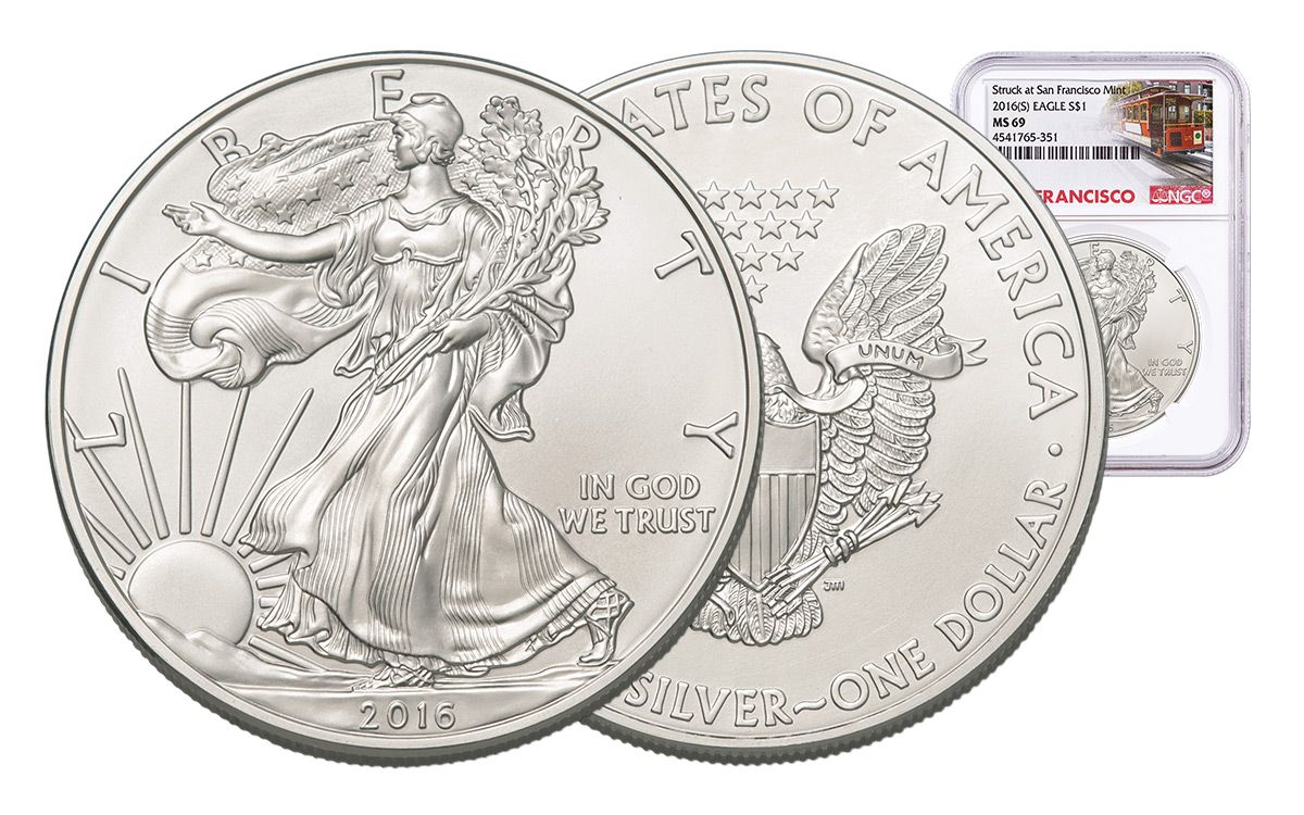 Uncirculated 1 oz 2016 NGC MS 69 $1 Silver American Eagle