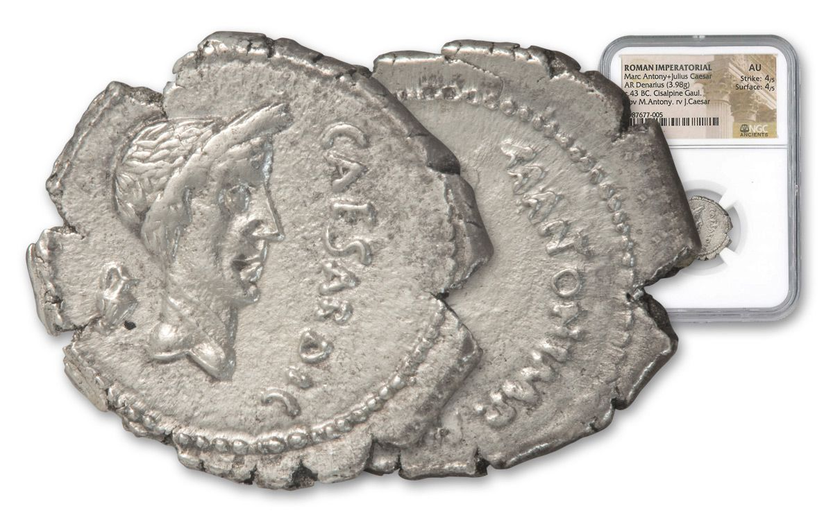 43 B C Roman Julius Caesar Mark Antony