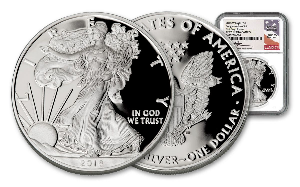 2018-W American Eagle Silver Dollar Proof-IN STOCK