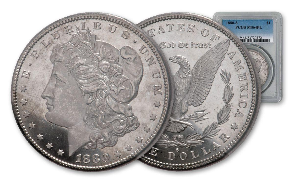 1880-S US Morgan Silver Dollar $1 NGC MS64