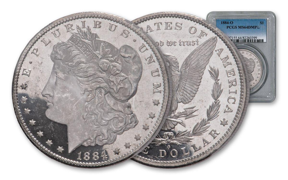 PCGS MS64+ 1884-O US Morgan Silver Dollar $1