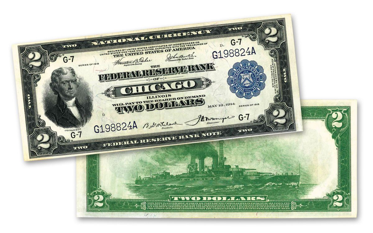 """/<MINT/> OLD STYLE /""""GOLD/"""" $2.00 GOLD CERTIFICATE 2 DOLLAR Rep.*Banknote~"""