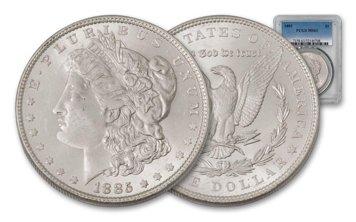 1885 US Morgan Silver Dollar $1 NGC MS63