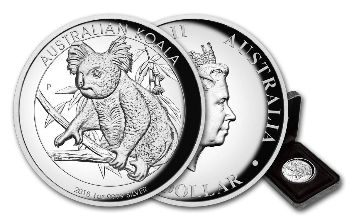 2018 Australian Koala 1 oz Dollar $1 Silver Proof High Relief Coin Australia