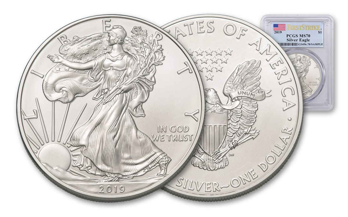 West Point 1 oz Silver American Eagle $1 Coin PCGS MS 70 First Strike 2019 W