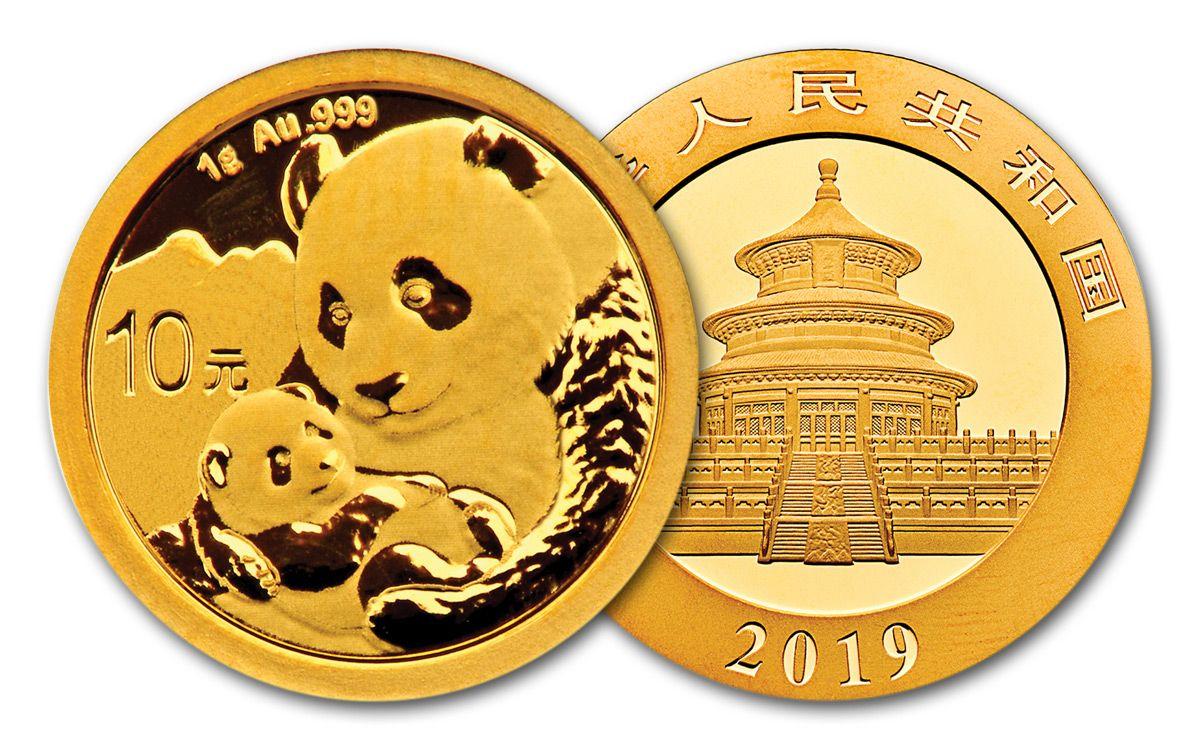 China 2018 1g Gold Panda Coin