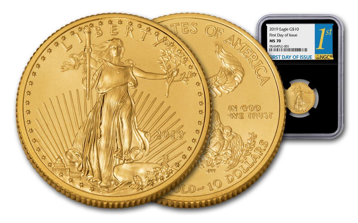 2019 10 Dollar 1 4 Oz Gold Eagle Ngc