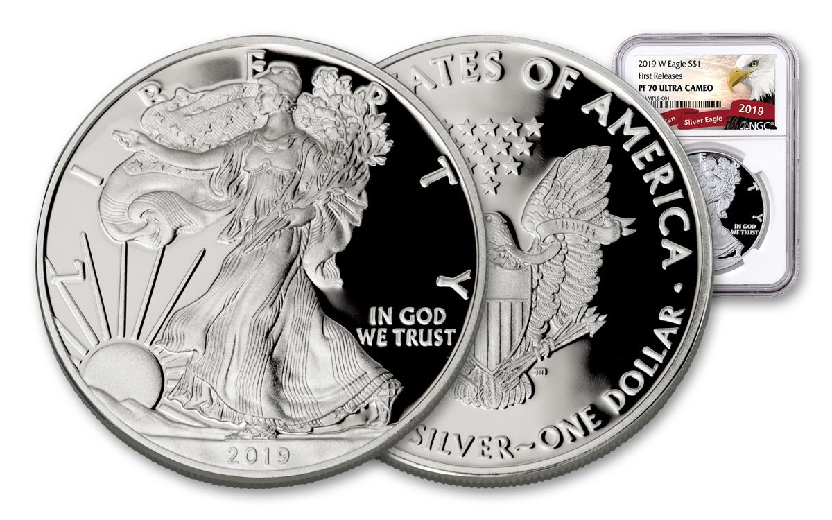 2019 S Silver Eagle Proof NGC PF70 UC Early Releases Liberty Label