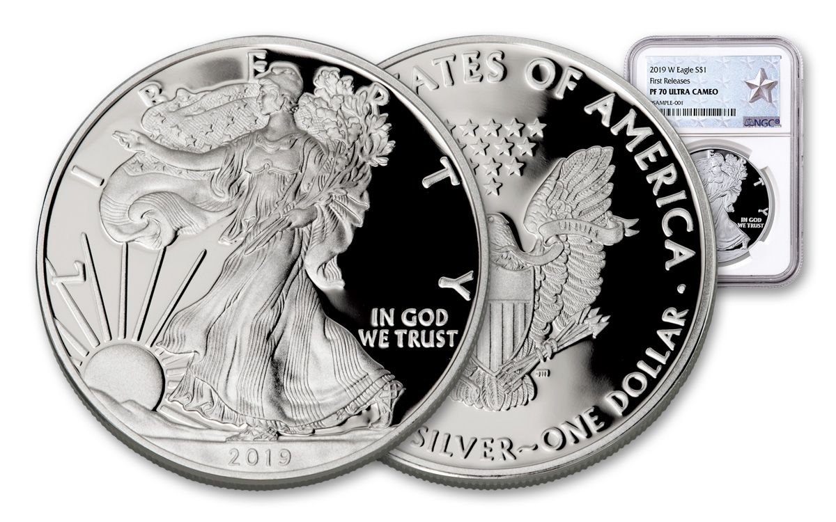2013-W West Point Silver Eagle Set Early Release PF69//SP69 NGC Retro Star Label