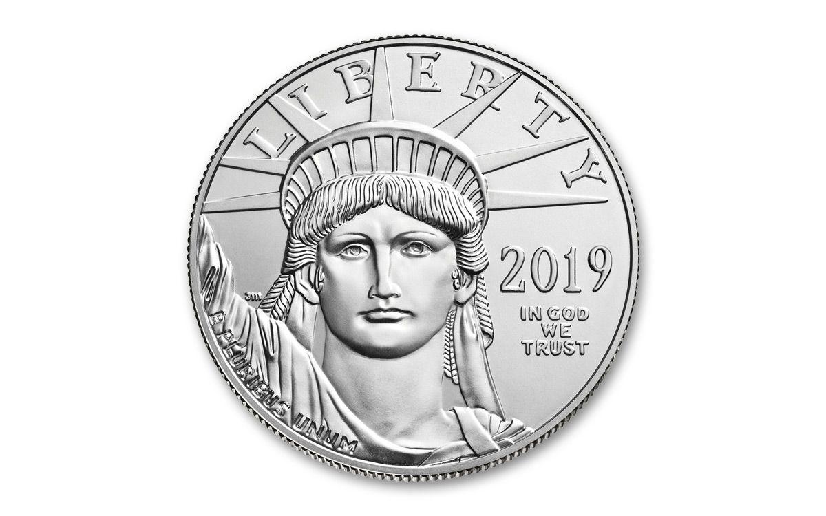 2019 $100 1oz American Platinum Eagle BU