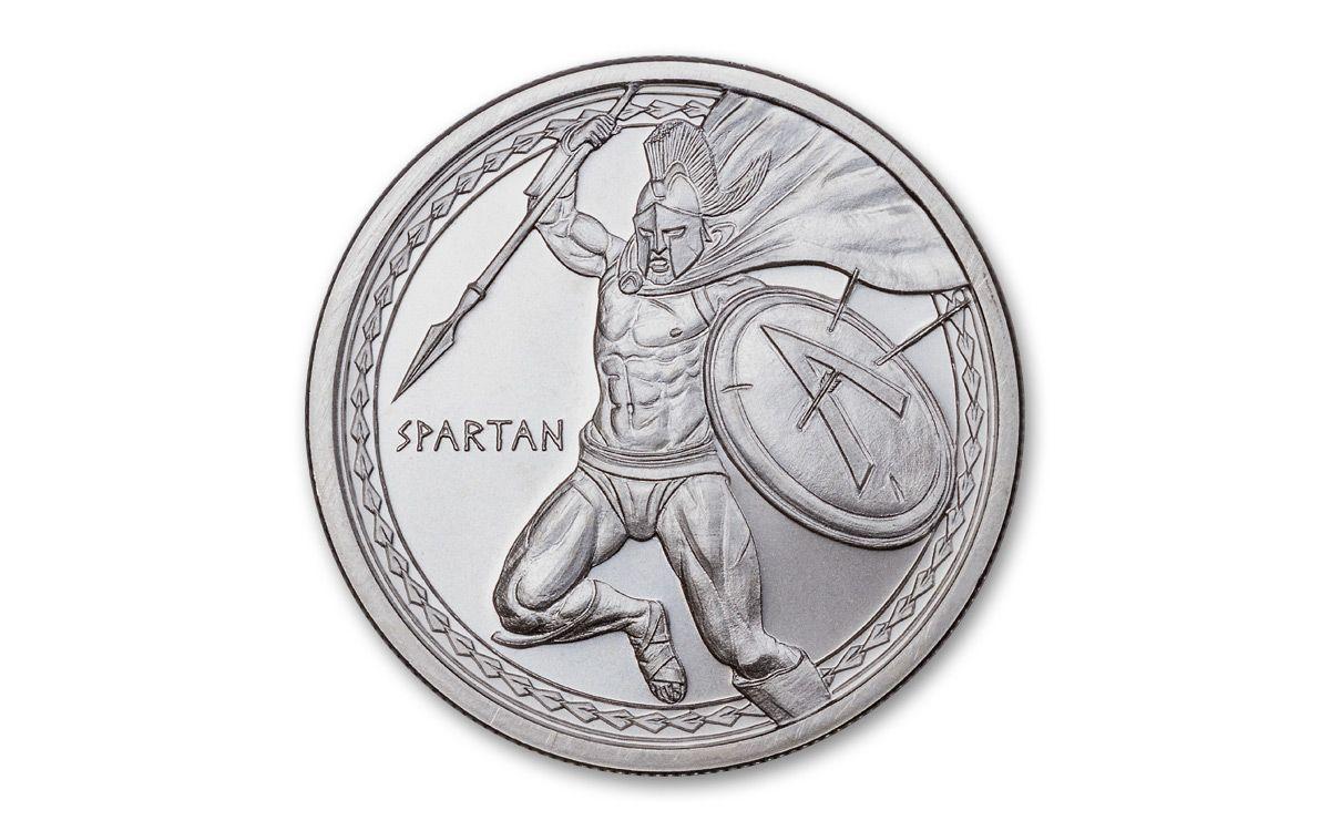 Silver 1 oz Warrior Series Spartan