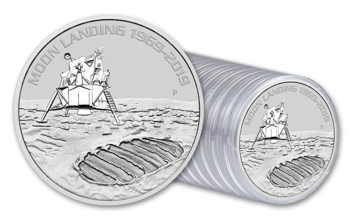 2019 50th Anniversary Moon Landing 1oz Silver Coin
