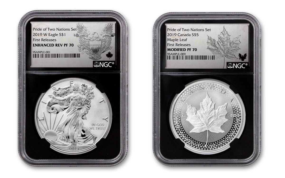 Set Ships next day!!! 2019 Pride of Two Nations 2pc Set U.S