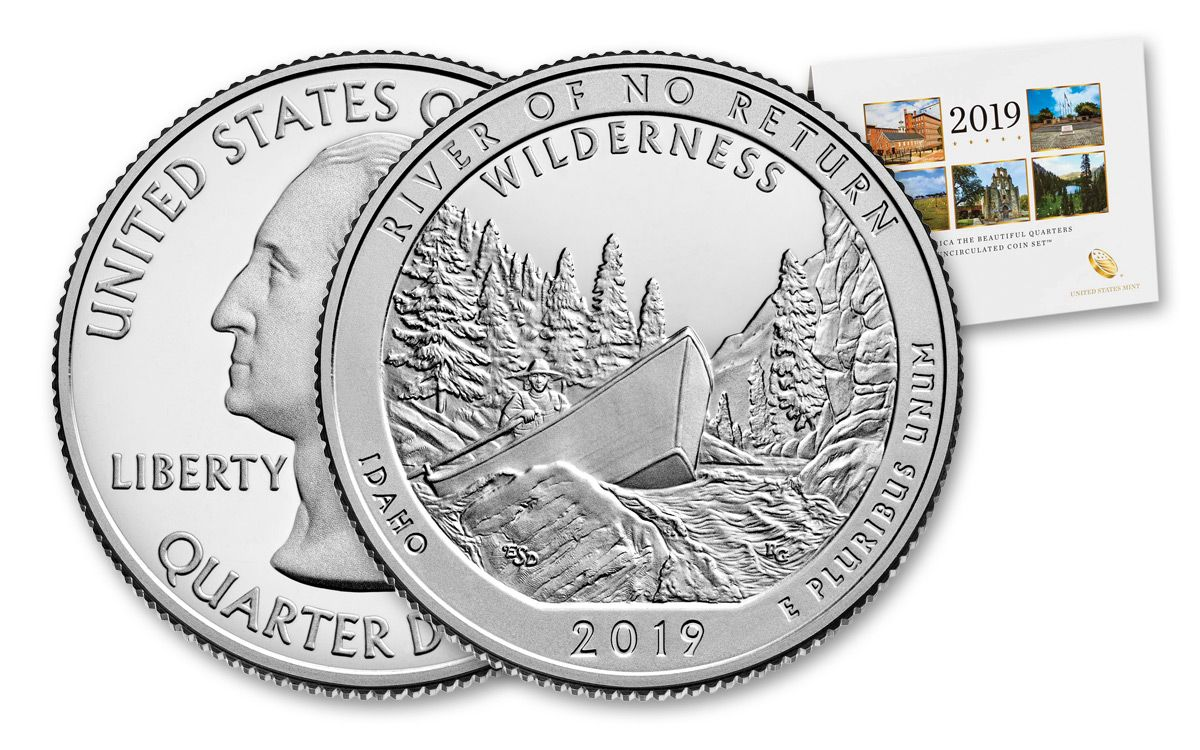 """2019 P /& D  All 10 National Parks ATB /""""BU/"""" Quarters from MINT sets!!"""