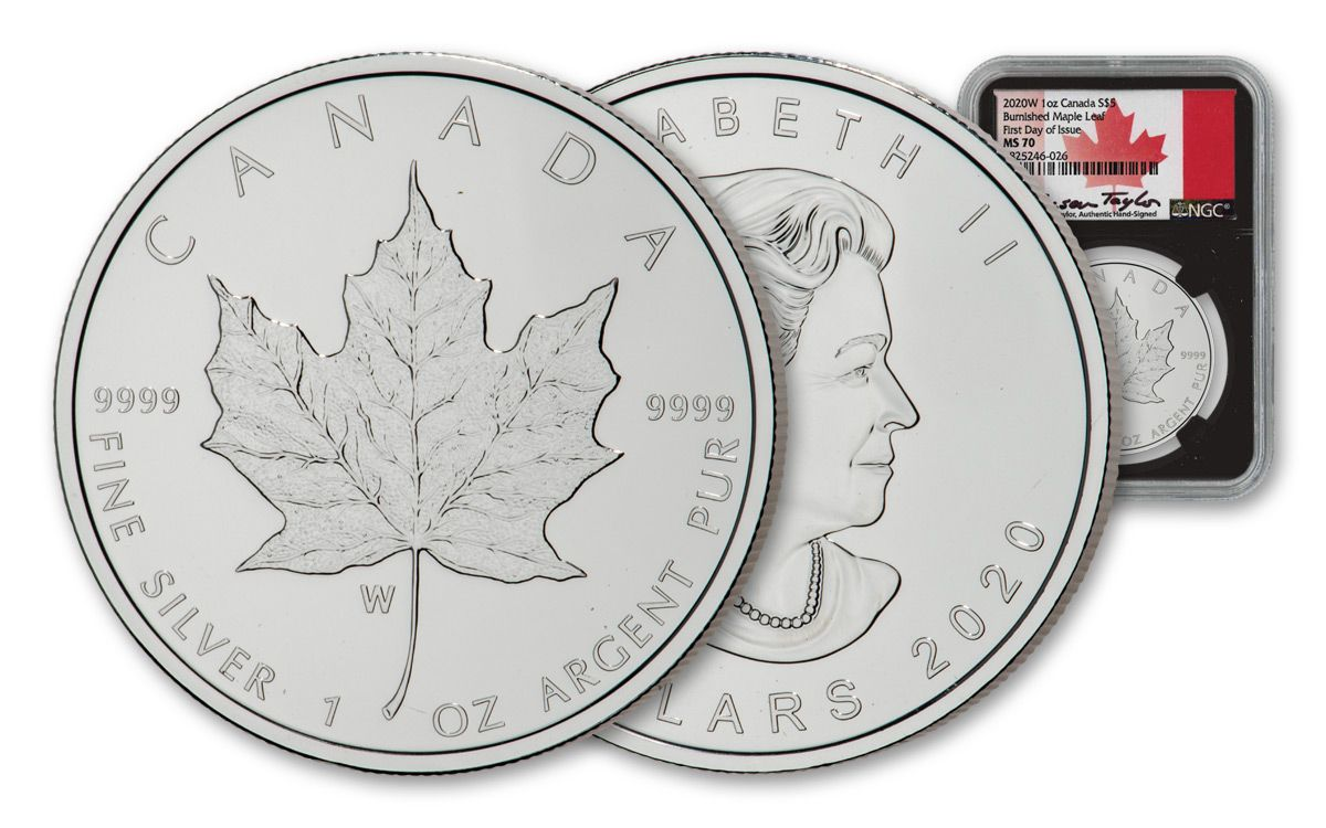 CANADA 2017 $5 MAPLE LEAF 1 Oz SILVER ANTIQUE FINISH ONLY FEW AVAILABLE