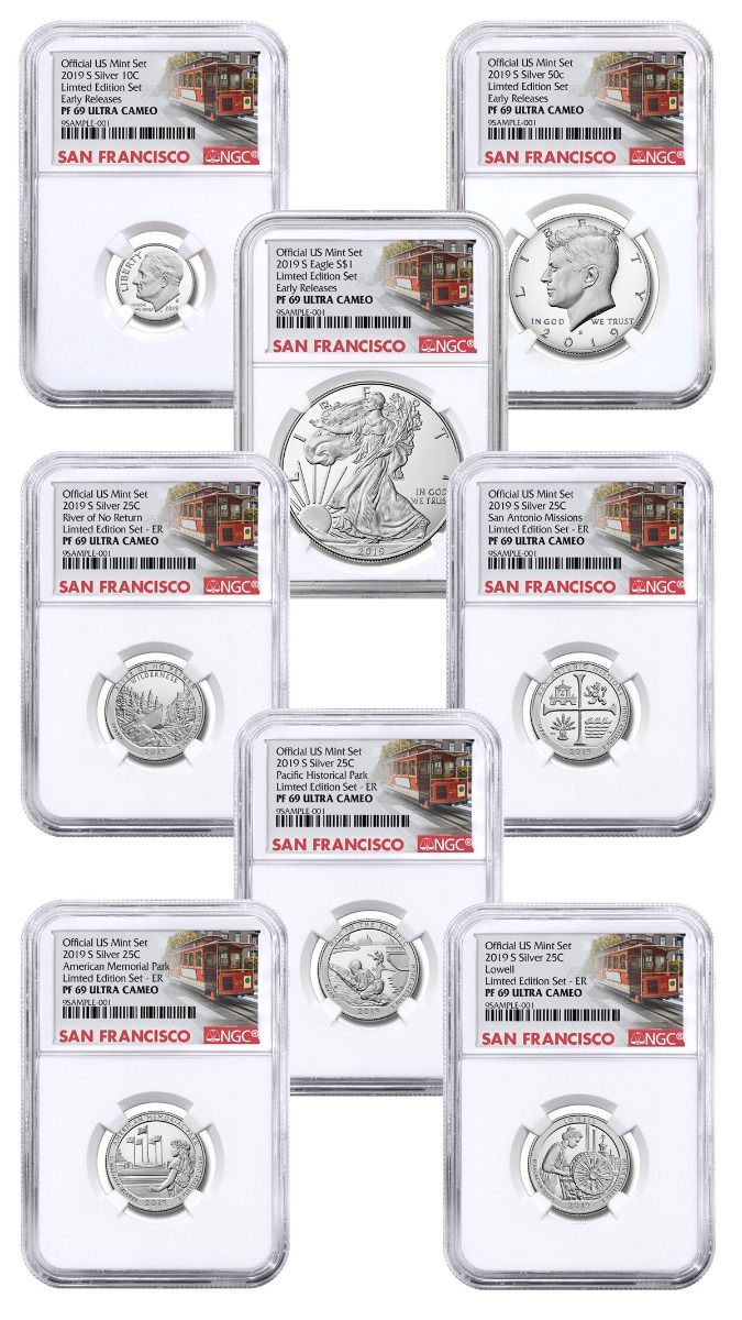 2019 S Limited Edition Silver Eagle Proof Dollar from Set NGC PF 69 Early Rel.