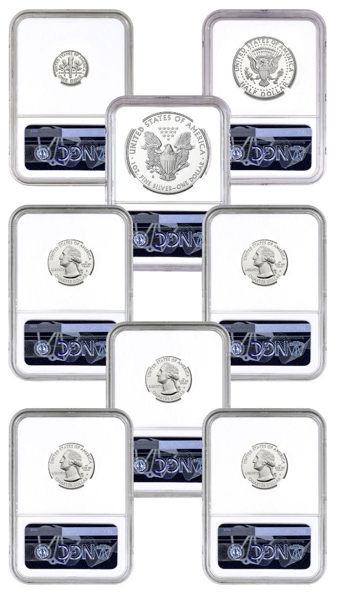 2019-S Limited Edition Proof Set $1 American Silver Eagle NGC PF70UC ER San Fran