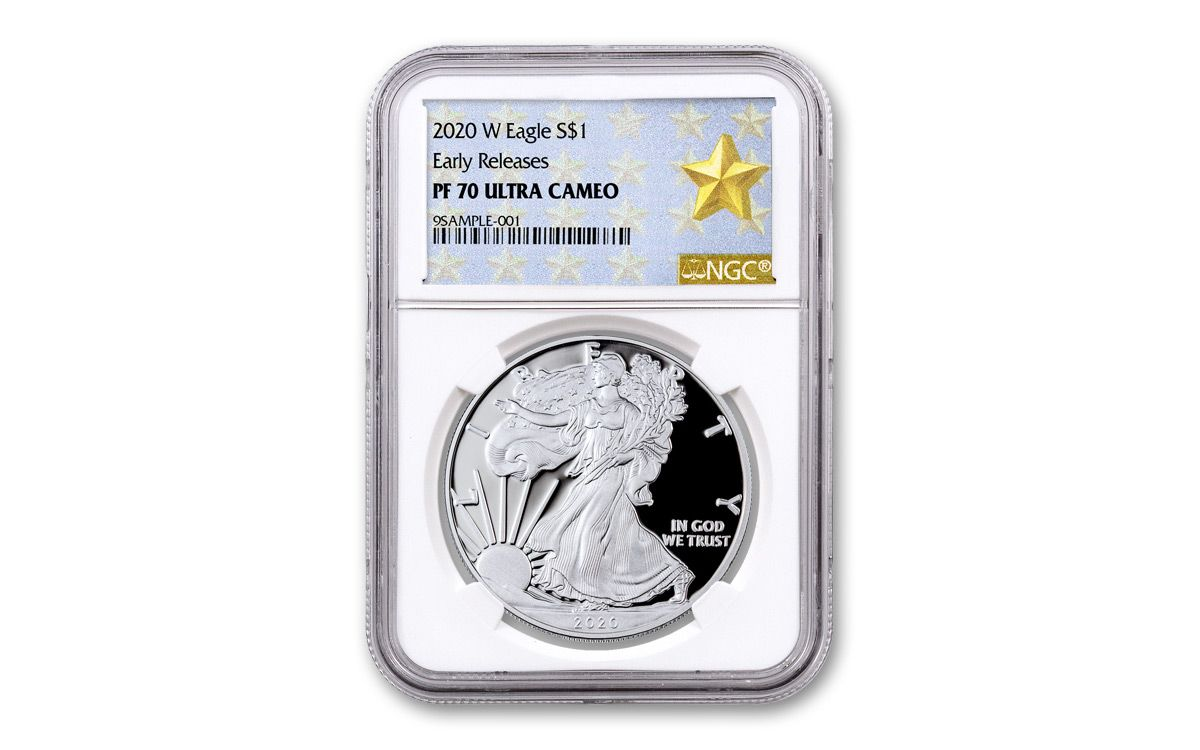2020-W Proof $1 American Silver Eagle NGC PF70UC ER West Point Core