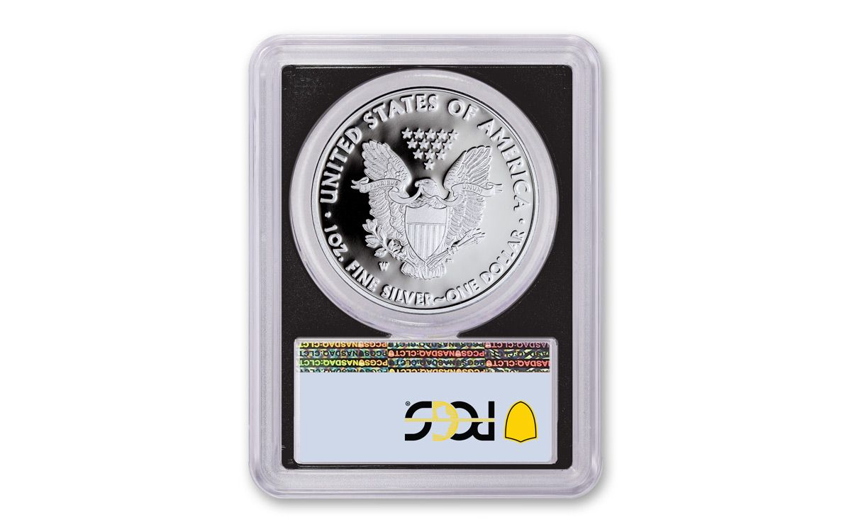 2020-W Proof $1 American Silver Eagle PCGS PR69DCAM First Strike Flag Label Whit