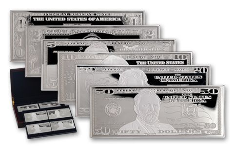 1-oz Silver Currency Proofs Set - 6 Pieces
