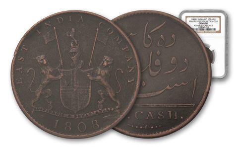 1808 10 Cash Admiral Gardner NGC Genuine