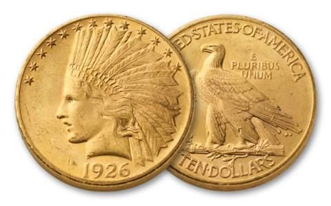 1907-1933 10 Dollar Gold Indian Type III NGC/PCGS MS62